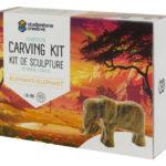 Elephant soapstone carving kit box