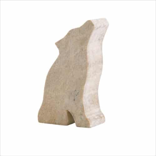 Pre-cut soapstone of a wolf