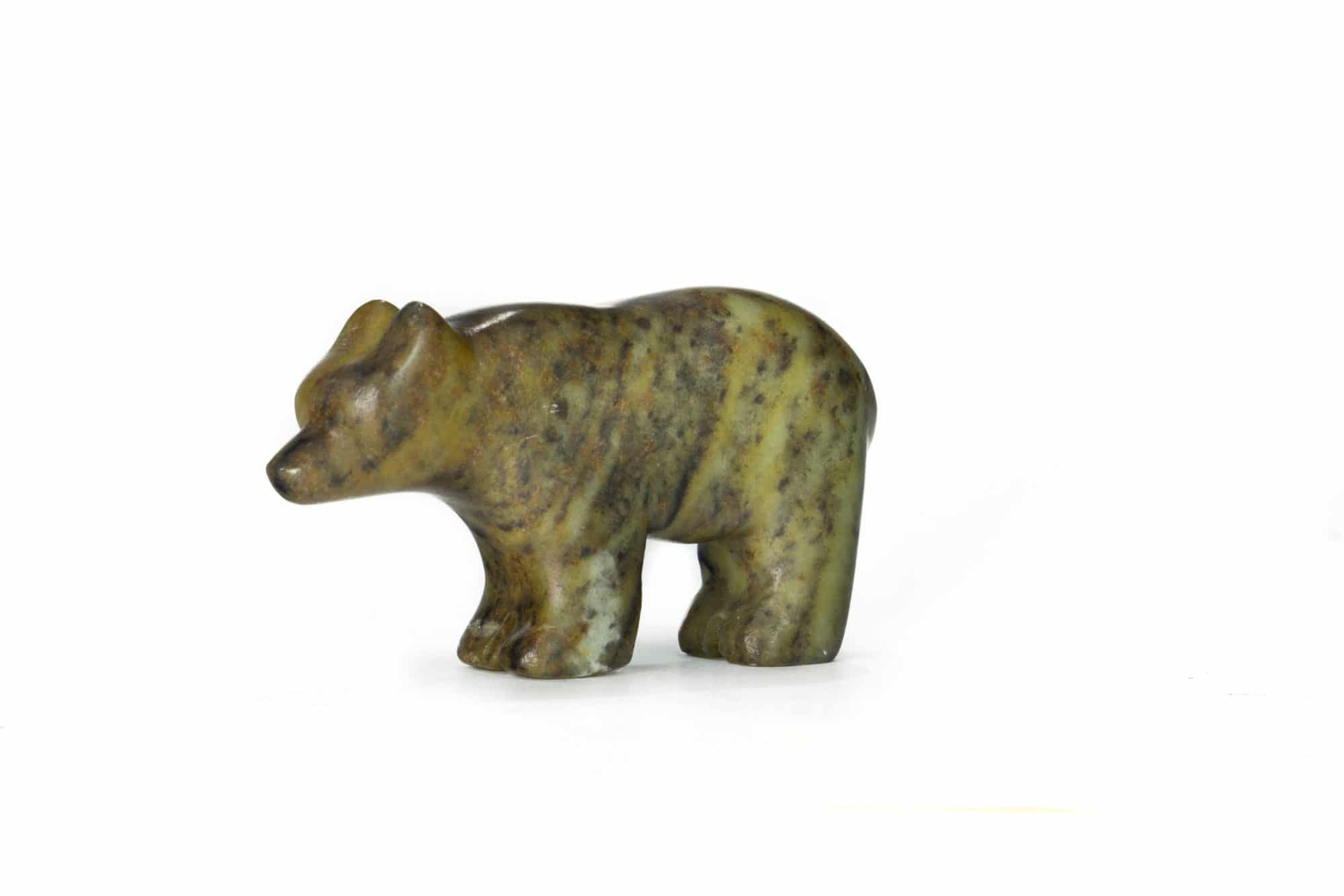 Bear carved from a soapstone