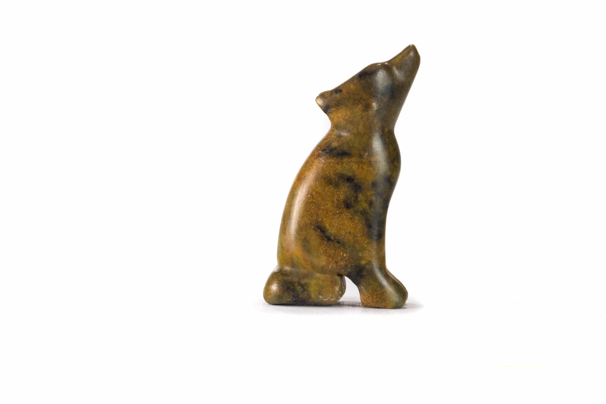 Wolf carved from a soapstone