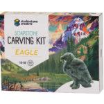 Eagle soapstone carving kit box