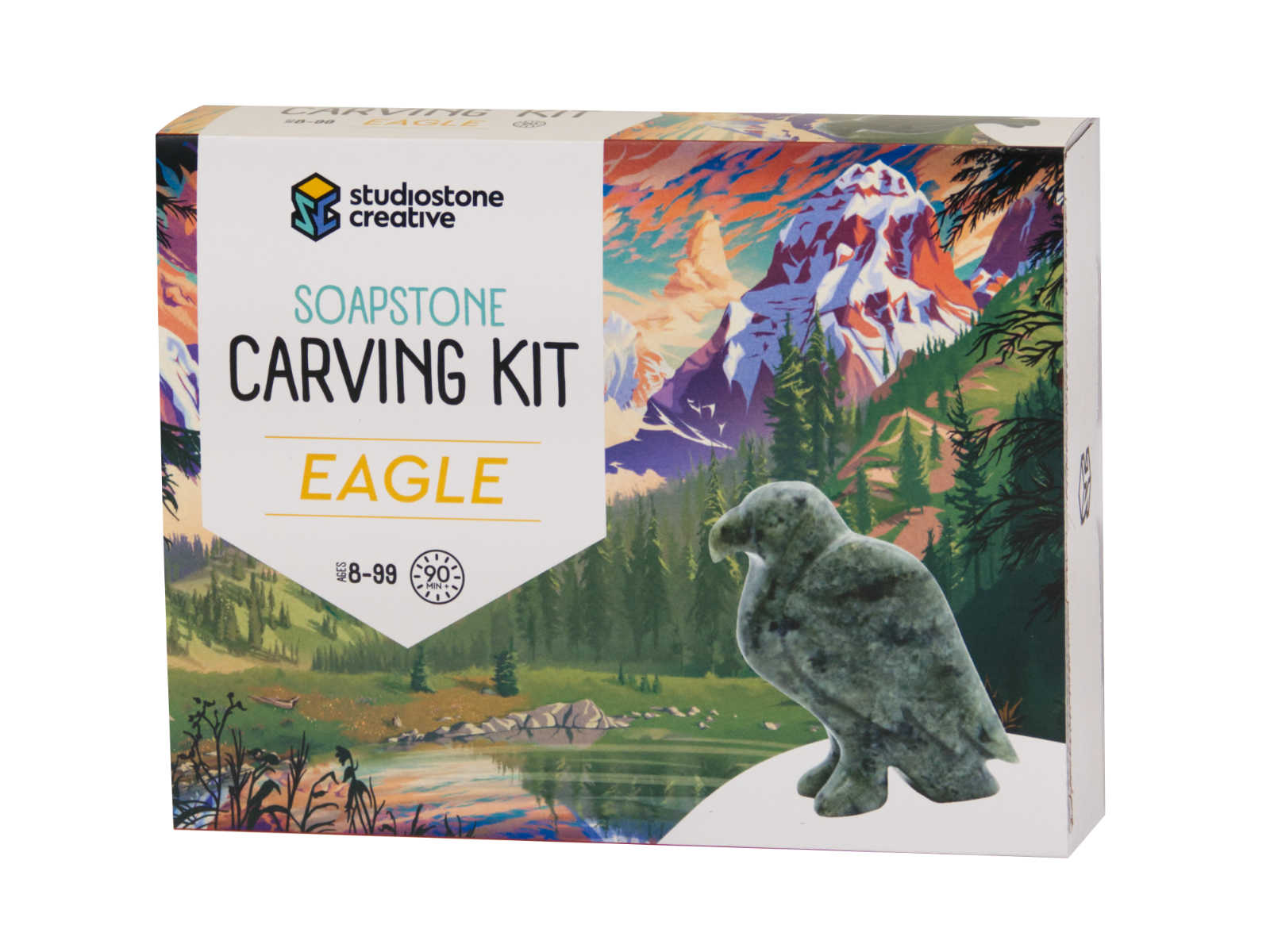 Eagle soapstone carving kit box