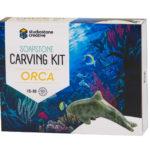 Orca soapstone carving kit box