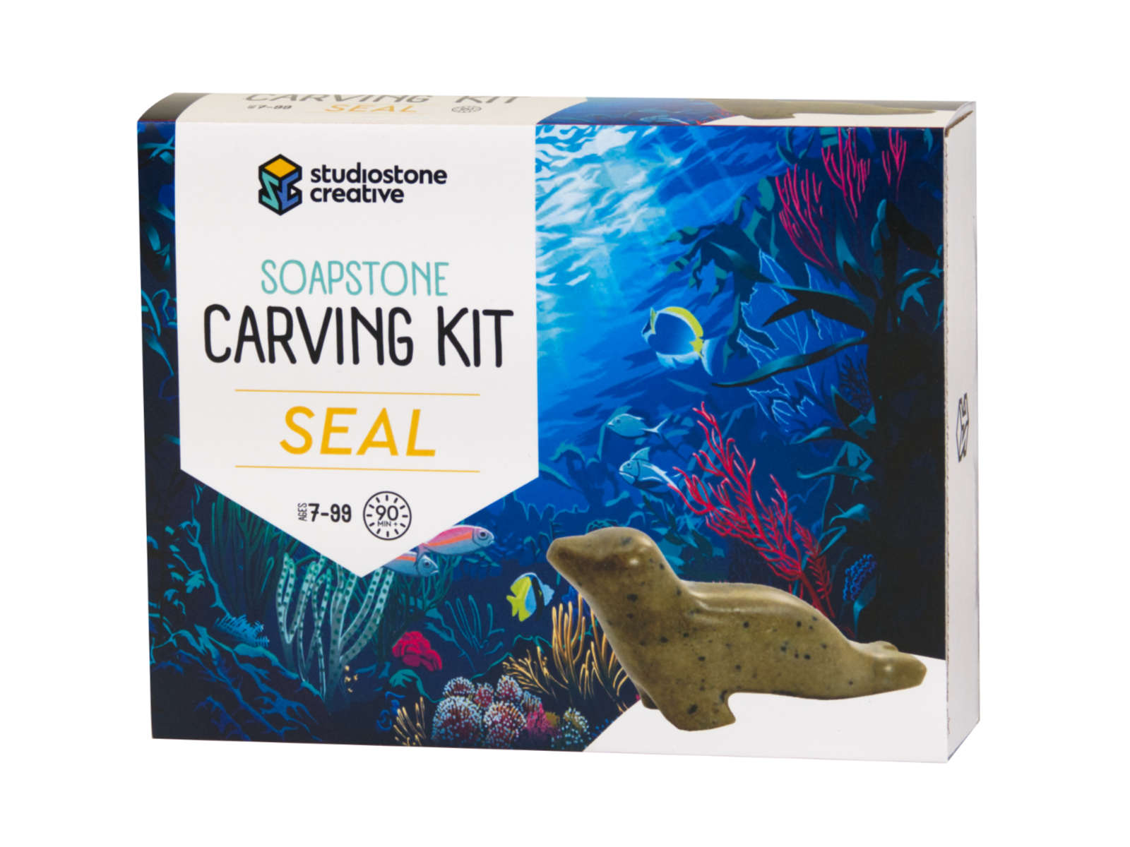 Seal soapstone carving kit box