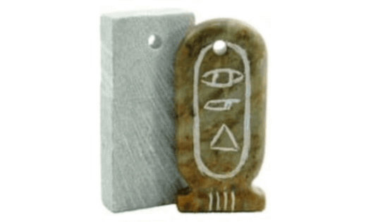 Carved egyptian pendant out of soapstone